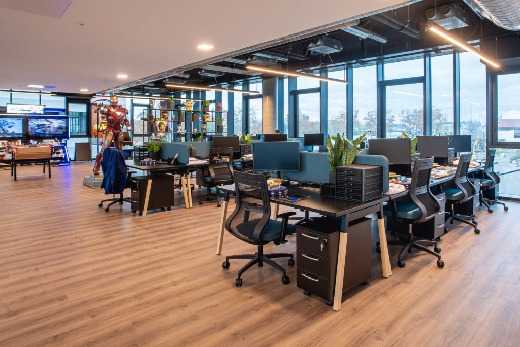 Locaux Soluxan - espace travail Open-space